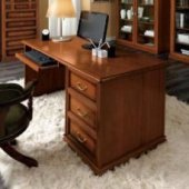 Brown writing desks