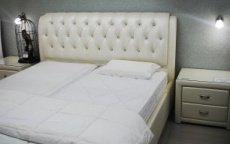 Double beds with soft headboards