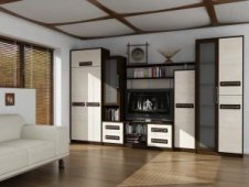 White modular Entertainment Centers